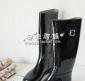 批发供应出口意大利时尚PVC雨靴 马靴 黑色