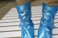女式PVC调整型中筒平跟防雨鞋套(H-305)