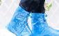 防雨鞋套 防水鞋套高档女士珠光膜印花防雨水鞋套